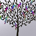 Metallic Parrot Tree by Sher Magins