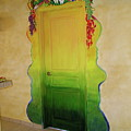 Mexican Blanket Door Mural by Patty Rebholz