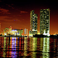 Miami At Night -1 by Ali Zaidi