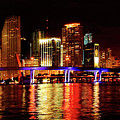 Miami At Night -2 by Ali Zaidi