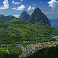 Midday- Pitons- St Lucia by Chester Williams