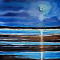 Midnight At The Beach by Elizabeth Robinette Tyndall