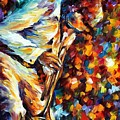 Miles Davis - Gold Trumpet by Leonid Afremov