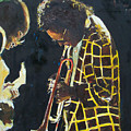 Miles Davis And A Guitar Player  by Udi Peled
