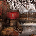 Mill - Clinton Nj - The Mill And Wheel by Mike Savad