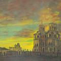 Mission San Xavier Del Bac by Dan Bozich