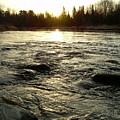 Mississippi River Dawn Reflection by Kent Lorentzen