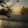Mississippi River Foggy June Sunrise by Kent Lorentzen