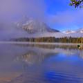 Misty Morning On A Canoe by Scott Mahon