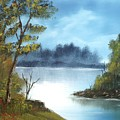 Misty River by Larry Hamilton