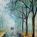 Misty Stroll by Leonid Afremov