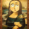 Mona In A Guilded Frame by Tim Nyberg
