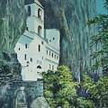 Monastery Ostrog Montenegro by Sinisa Saratlic