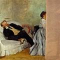 Monsieur And Madame Edouard Manet by Edgar Degas