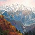 Mont Blanc France by Edward Abela