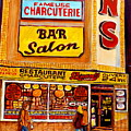 Montreal Paintings Dunns Restaurant Streets Of Montreal by Carole Spandau