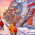 Montreal Winter Walk by Carole Spandau