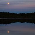 Moon Over Kirkas-soljanen  by Jouko Lehto