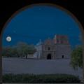 Moonrise On Tumacacori Mission by Sandra Bronstein