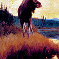 Moose Against Skyline by Phillip R Goodwin
