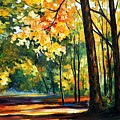 Morning Forest by Leonid Afremov