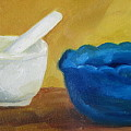 Mortar And Pestle by Patricia Cleasby