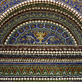 Mosaic And Shell Fountain Getty Villa Malibu California by Teresa Mucha