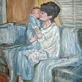 Mother And Child 1 by Joseph Sandora Jr