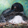 Mother Nature And The Loon by Jane Kleinschmidt