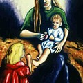 Mother With Children by Helen O Hara