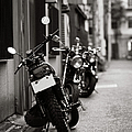Motorbikes Parked On Street In Tokyo, Japan by photo by Jason Weddington