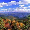 Mount Morgan Squam Lake Foliage by John Burk