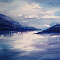 Mountain Lake In Blue by Suzanne Krueger