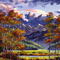 Mountain River Valley by David Lloyd Glover