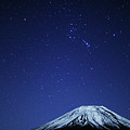 Mt.fuji And Winter Stars by Takeshi.K