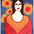 Mujer Con Flores by Laura Lopez Cano
