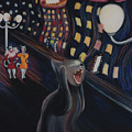 Munch's Cat--the Scream by Eve Riser Roberts