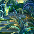 Mural  Insects Of Enchanted Stream by Nancy Griswold