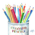 My Colored Pencils by Arline Wagner