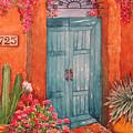My Neighbors Blue Door  by Lynn Morgan -                            L L Morgan Art