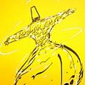 Mystic Dancer In Yellow by Faraz Khan