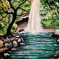 Mystical Waterfall by Elizabeth Robinette Tyndall