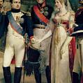 Napoleon Bonaparte Receiving Queen Louisa Of Prussia by Nicolas Louis Francois Gosse