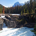 Natural Bridge On The Kicking Horse River by George Oze
