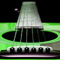 Neon Green Guitar 18 by Andee Design