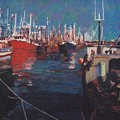 New Bedford Fishing Fleet by David Poyant Paintings
