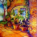 New Orleans Courtyard By M Baldwin by Marcia Baldwin