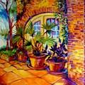 New Orleans Courtyard By M Baldwin by Marcia Baldwin