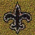 New Orleans Saints  Bottle Cap Mosaic by Paul Van Scott
