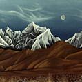 New Years Moon Over Cojata Peru by Anastasia Savage Ealy
